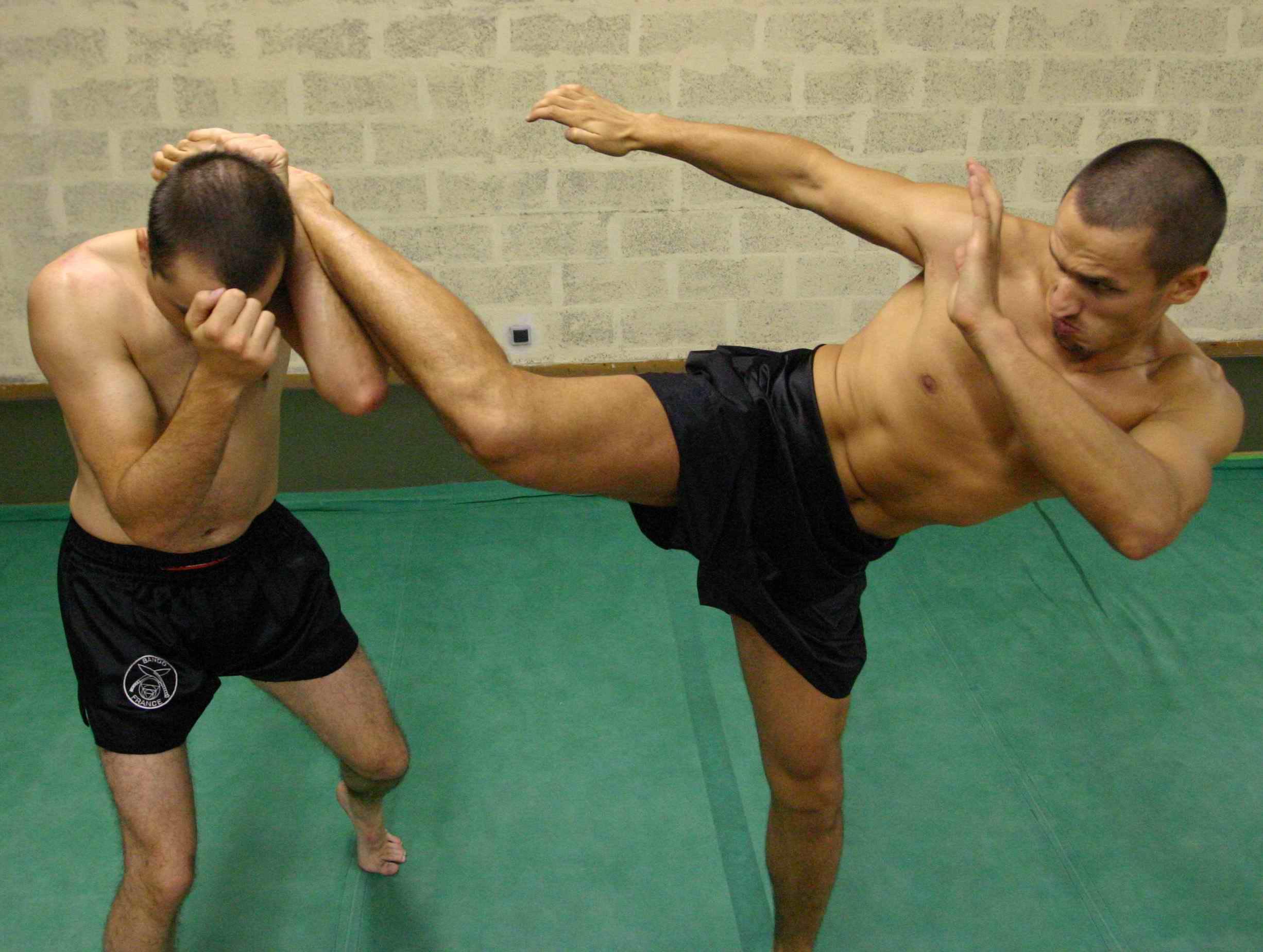 MMA kick body position