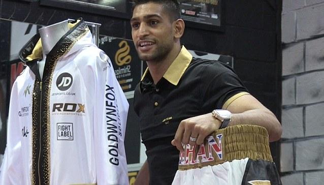 amir khan boxing shorts